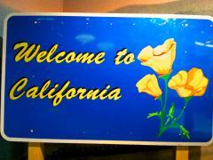 """Photo : Panneau """"Welcome California"""""""
