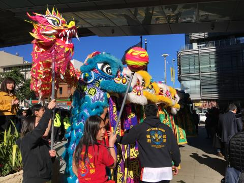 [Photo : Danse des lions festival Chinatown San Francisco