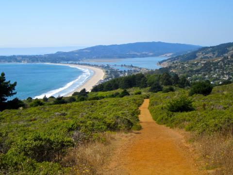[Photo : chemin de randonnée avec vue sur l'Ocean Pacifique]