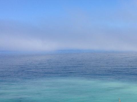 Photo : Bleu de l'Océan Pacifique