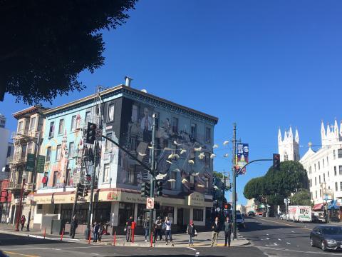 maison avec fresque murale géante San Francisco