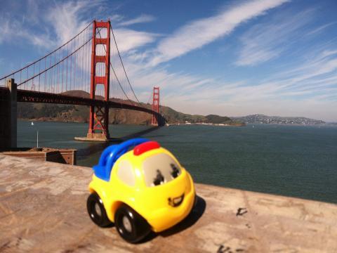 Golden Gate Bridge avec jouet d'enfant San Francisco