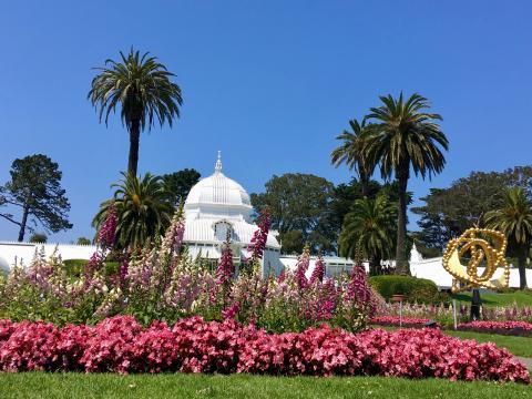 Conservatory of Flower dan le par du Golden Gate